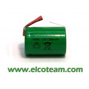 Batteria 4/5 SC 1.2Ah Ni-Cd lamella a saldare