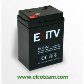 Batteria Ermetica al piombo 6V 4,5 Ah Exitv
