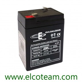 Batteria ermetica al piombo 6V 4Ah EnergyTeam