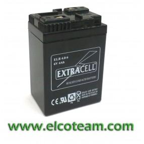 Batteria ermetica al piombo 6V 4Ah per lampade