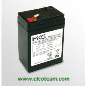 Batteria Ermetica al piombo 6V 4Ah MKC