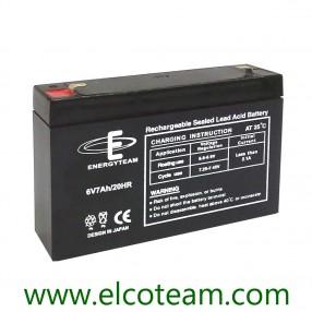 Batteria Ermetica al piombo 6V 7 Ah EnergyTeam