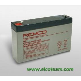 Batteria ermetica al piombo 6V 7Ah Remco RM6-7