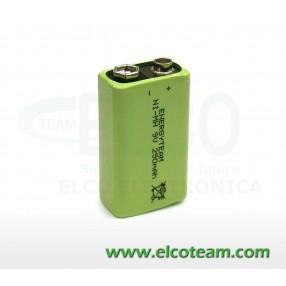 Batteria Pila 9V ricaricabile 8,4V 250mAh EnergyTeam