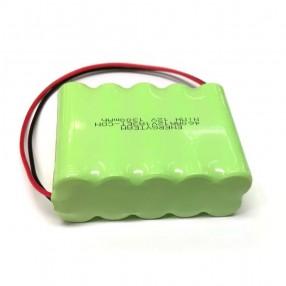 Pacco Batteria Ricaricabile NiMH 12V 1300mA (10xAA) fili liberi