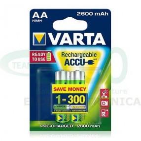 Batteria Ricaricabile VARTA stilo AA 2600mAh - Confezione 2 pezzi