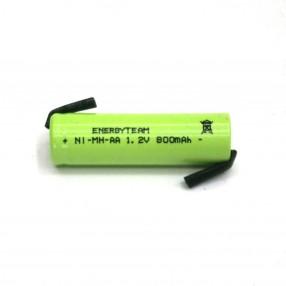 Batteria stilo AA 800 mAh Ni-Mh EnergyTeam con lamelle a saldare