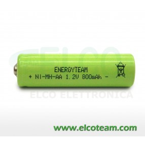 Batteria stilo AA 800 mAh Ni-Mh bottone EnergyTeam