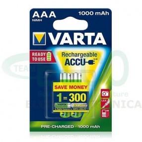 Batterie Ricaricabile VARTA Ministilo AAA 1000mAh - Confezione 2 pezzi