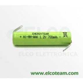 Batteria mini stilo AAA 700 MAh Ni-Mh con lamelle EnergyTeam