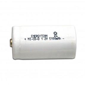 Batteria torcia D 5 Ah Ni-Cd bottone Energyteam