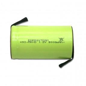 Batteria torcia D 8.0 Ah Ni-Mh Energyteam lamelle a saldare