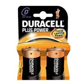 Pila DURACELL PLUS POWER Torcia D - Confezione 2 pezzi