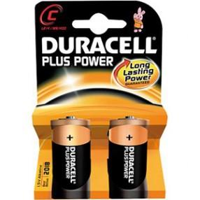 Pila DURACELL PLUS POWER Mezzatorcia C - Confezione 2 pezzi
