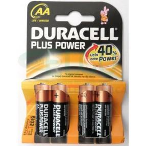 Pila DURACELL PLUS POWER Stilo AA - Confezione 4 pezzi