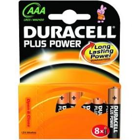 Pila DURACELL PLUS POWER Ministilo AAA - Confezione 8 pezzi