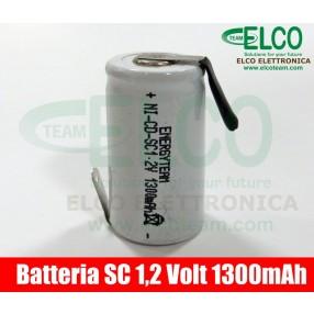 Batteria sub-mezza torcia SC 1.3Ah Ni-Cd lamella a saldare EnergyTeam
