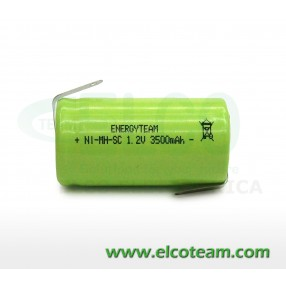 Batteria sub-mezza torcia SC 3.5Ah Ni-Mh lamella a saldare EnergyTeam