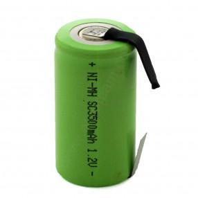Batteria sub-mezza torcia SC 3.5Ah Ni-Mh lamella a saldare
