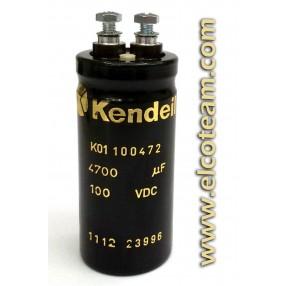 Condensatore elettrolitico Kendeil 4700µF 100VDC