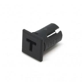 """5361/3////26 Supporto cilindrico piatto per LED con incavo a forma di """"T"""""""