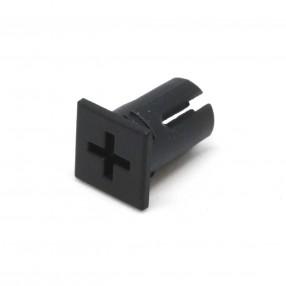 """5361/6////26 Supporto cilindrico piatto per LED con incavo a forma di """"+"""""""