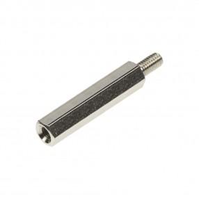 Distanziatore Esagonale Metallico M3 Filettato Maschio-Femmina H=30 mm