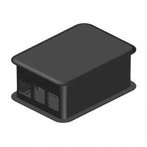 TEK-RPI-X3.9 Case XL nero per Raspberry Pi 3