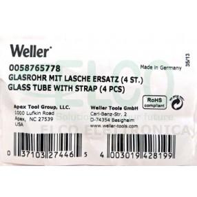 0058765778 Tubo Vetro per Dissaldatore Weller WXDP120 - Confezione 4 pezzi
