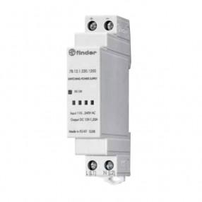 Finder 78.12.1.230.1200 alimentatore switching barra DIN 12V 12W 1 modulo DIN