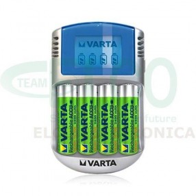 Caricabatterie Ni-MH VARTA LCD Charger + 4 batterie AA 2400mAh
