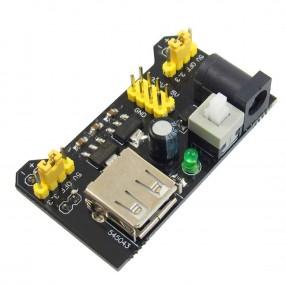 Alimentatore a 3,3V e a 5 Volt 700mA per breadboard WB102/MB102 attraverso la porta USB.