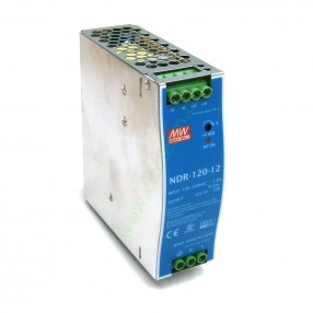 Alimentatore Mean Well NDR-120-12 120W 12V guida DIN