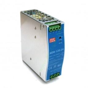 Alimentatore Mean Well NDR-120-24 per guida DIN 120W 24V