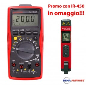 Amprobe AM-540 Multimetro Digitale + Temometro IR-450