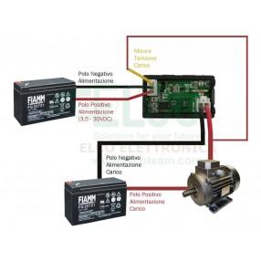 Strumento Doppio Display Voltmetro 0-30V Amperometro 0-5A - Schema di collegamento con alimentazione separata