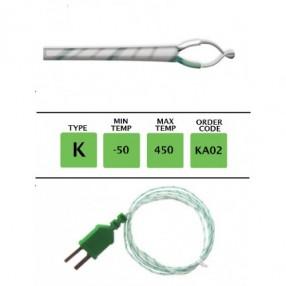 KA02 Termocoppia tipo K sottile 0,3mm lunghezza 1 metro