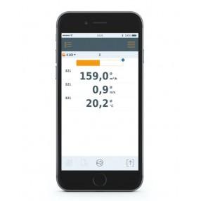 Testo 410i Termoanemometro a Elica Bluetooth Smart Probes