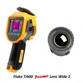 Fluke Ti400 Termocamera 320x240 con Promo Lente Grandangolare