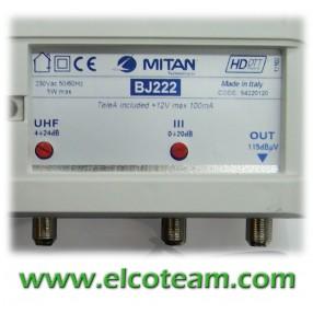Centralino Mitan BJ222 2 ingressi 22/26 dB