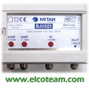 Centralino Mitan BJU323 3 ingressi 20/26 dB