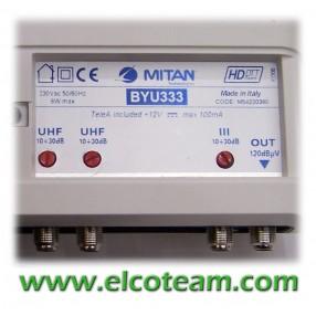 Centralino Mitan BJU333 3 ingressi 32 dB