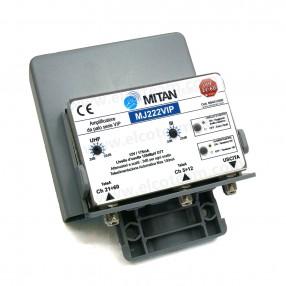 Mitan MJ222VIP Amplificatore da palo 2 ingressi, 2 regolazioni, tecnologia VIP