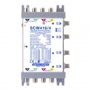 LEM Elettronica SCW416/4 Multiswitch Ibrido Passante 4 Ingressi VH/VH o Wide Band e 4 uscite dCSS/SCR