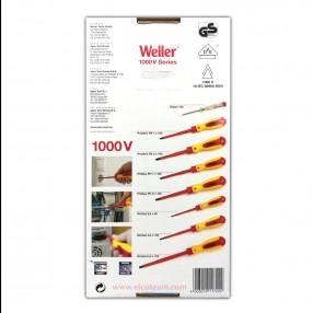 Weller SD8SET Kit 8 cacciaviti a Taglio, Phillips, Pozidriv e Cercafase con Isolamento 1000V