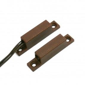 Contatto magnetico marrone per montaggio a vista FDP A-R2P