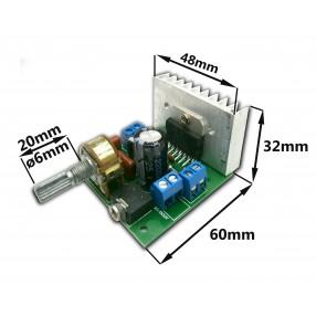 Dimensioni Modulo Amplificatore Stereo TDA7297