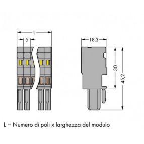 Wago 769-101/000-016 Connettore per 1 conduttore verde/giallo