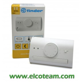 Termostato manuale Finder Bianco