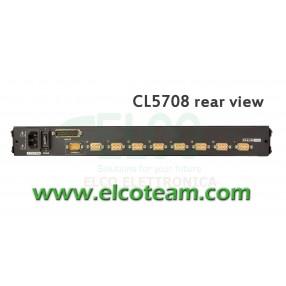 """Console KVM 8 porte LCD 17"""" Aten CL5708"""